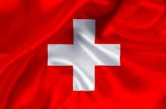 Ilustração da bandeira de Suíça ilustração do vetor