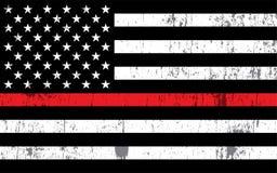 Ilustração da bandeira do apoio do bombeiro ilustração do vetor