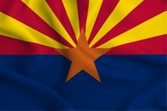 Ilustração da bandeira do Arizona ilustração royalty free