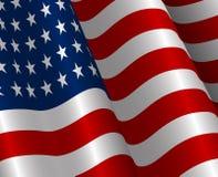 Ilustração da bandeira realística do Estados Unidos da América Fotografia de Stock