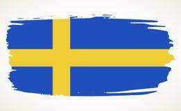 Ilustração da bandeira da Suécia Imagem de Stock