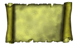 Ilustração da bandeira velha do rolo no estilo do grunge. Imagem de Stock Royalty Free