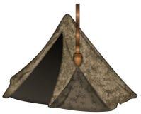 Ilustração da barraca de lona com trajeto de grampeamento Imagens de Stock