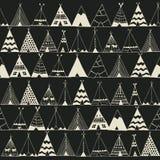 Ilustração da barraca do verão do nativo americano da tenda Imagens de Stock Royalty Free