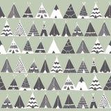 Ilustração da barraca do verão do nativo americano da tenda Fotos de Stock
