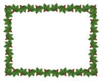 Ilustração da beira do azevinho do Natal Imagens de Stock Royalty Free
