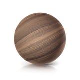 Ilustração da bola 3D da madeira de carvalho Imagens de Stock Royalty Free