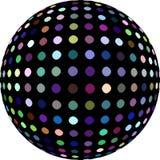 Ilustração da bola 3d do disco Sumário verde azul roxo do teste padrão de mosaico dos pontos ilustração royalty free