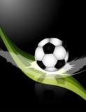 Ilustração da bola de futebol Imagens de Stock Royalty Free