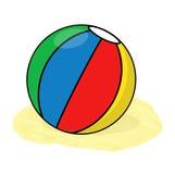 Ilustração da bola de praia Fotos de Stock