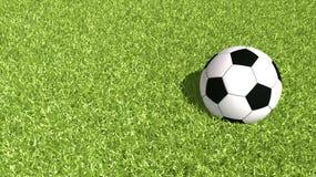 Ilustração da bola do futebol Foto de Stock Royalty Free