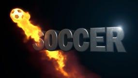 Ilustração da bola do futebol Fotografia de Stock Royalty Free