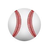 Ilustração da bola realística do couro do basebol Isolado no wh Imagem de Stock Royalty Free
