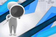 ilustração da busca do homem 3d Imagem de Stock Royalty Free
