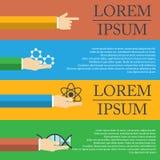 A ilustração da cápsula mostra a molécula como o conceito médico Fotos de Stock Royalty Free