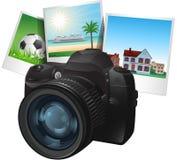 Ilustração da câmera da foto Fotografia de Stock