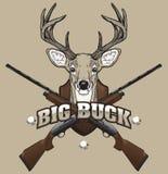 Ilustração da caça dos cervos Imagens de Stock Royalty Free