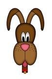 Ilustração da cabeça de cães dos desenhos animados ilustração stock