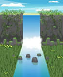 Ilustração da cachoeira Vetor ilustração stock