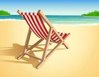 Ilustração da cadeira de praia Imagem de Stock