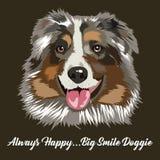 Ilustração da cara do cão ilustração royalty free