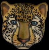 Ilustração da cara do leopardo Fotografia de Stock Royalty Free