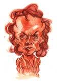 Ilustração da caricatura do Watercolour de Miles Davis foto de stock royalty free