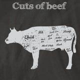 A ilustração da carne corta a carta (a vaca) Foto de Stock Royalty Free
