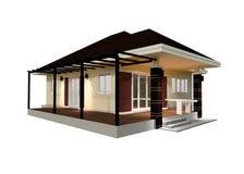 Ilustração da casa 3D do plano Imagens de Stock Royalty Free