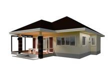 Ilustração da casa 3D do plano Imagem de Stock Royalty Free