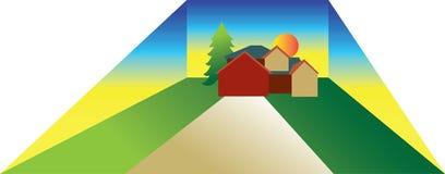 Ilustração da casa de Lage Ilustração do Vetor