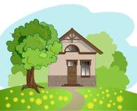 Ilustração da casa isolada dos desenhos animados ilustração stock