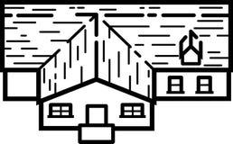 Ilustração 02 da casa - linhas limpas ilustração do vetor