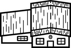 Ilustração 03 da casa - linhas limpas ilustração do vetor