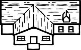 Ilustração 02 da casa - linhas orgânicas ilustração stock