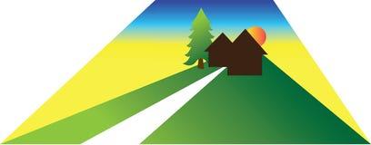 Ilustração da casa pequena ou da cabine Ilustração do Vetor