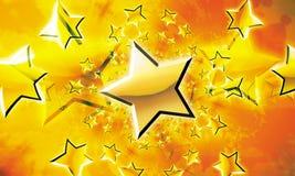 Ilustração da celebração das estrelas Fotografia de Stock Royalty Free