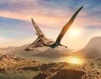 Ilustração da cena 3D de Pterosaur ilustração do vetor