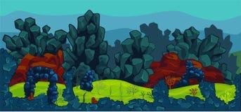 Ilustração da cena subaquática Fotografia de Stock