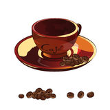 Ilustração da chávena de café Fotos de Stock Royalty Free