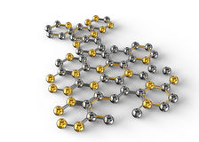 ilustração da ciência 3d da molécula abstrata Foto de Stock