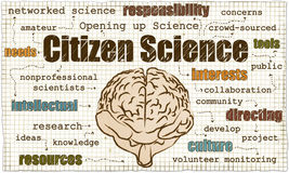 Ilustração da ciência do cidadão ilustração do vetor