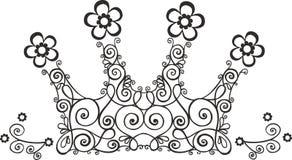 Ilustração da coroa da videira Imagem de Stock