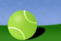 Ilustração da corte da esfera de tênis Imagens de Stock