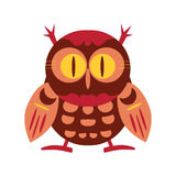 Ilustração da coruja dos desenhos animados Vetor eps10 Imagens de Stock