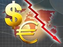 Ilustração da crise do dinheiro do mundo Ilustração Stock