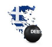 Ilustração da crise econômica de Grécia Imagens de Stock Royalty Free