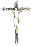 Jesus crucified Foto de Stock Royalty Free