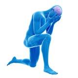 Ilustração da depressão Imagens de Stock Royalty Free