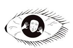 Ilustração da doença mental ilustração royalty free